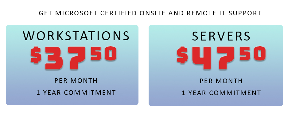 Get Microsoft Certified Technical Support for only $37.50 per month!